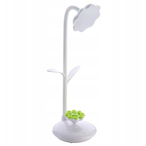 """main image of """"Dimmable Green LED Table Lamp, Bedside Lamp with Touch Sensor, Flexible Play Lamp That Can Be Charged Via USB and 360 Degree Rotary Cell Phone Stand (White) [A ++ Energy Class]"""""""