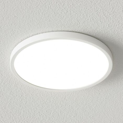 Dimmable LED ceiling lamp Solvie in white