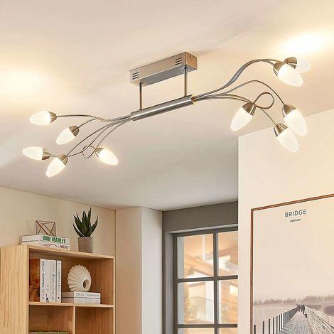 Dimmable LED ceiling light Deyan, ten-bulb