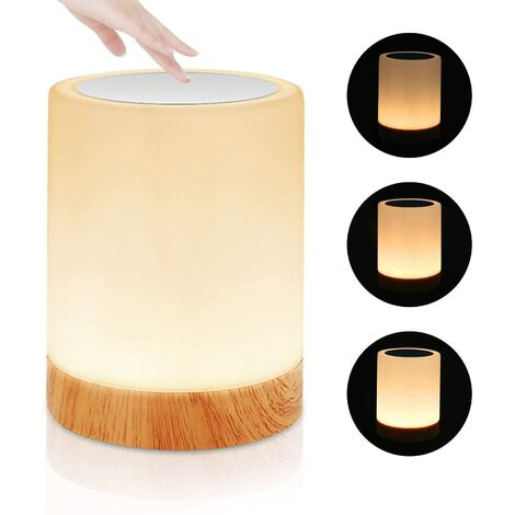 """main image of """"Dimmable Touch LED Bedside Lamp, LED Night Light, Mood Light, Dimmable Color Changing Table Lamp with 7 RGB Colors, USB Rechargeable Portable Smart Lighting"""""""