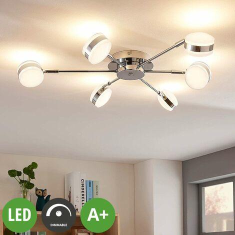 Dimmbare, 6-flammige LED-Deckenlampe Ksenija -