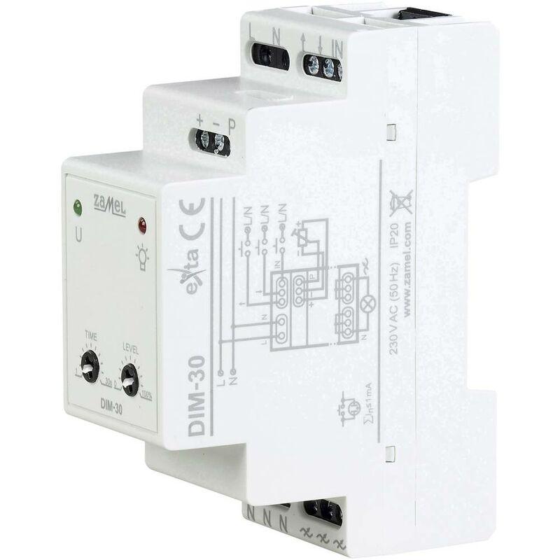 Zamel EXT10000228 Dimmer da guida DIN Adatto per lampadina: Lampadina LED, Lampadina fluorescente, Lampadina alogena, L