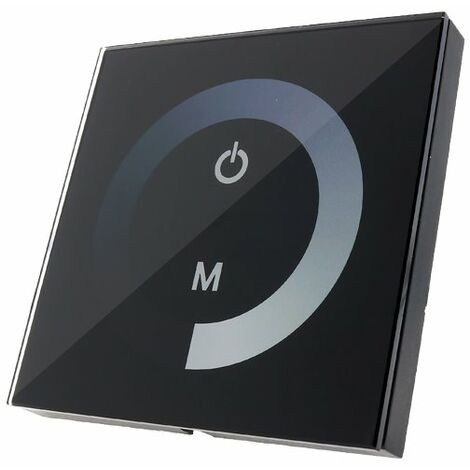 Dimmer Empotrable Táctil Unicolor para Tiras LED 12/24V Negro | IluminaShop