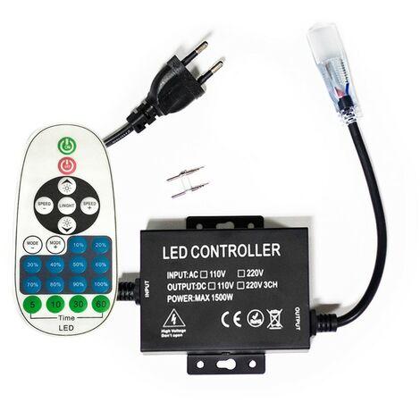 Dimmer profesional de 1500W para luz de neón flexible LED 220V mono-color de neón