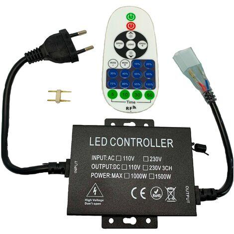 Dimmer profesional de 8mm 1500W para cintas de LED monocolores de 220V 5050 y 2835