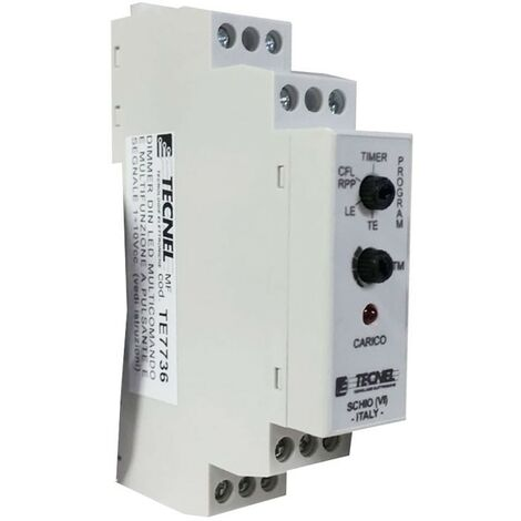 Dimmer Tecnel Din LED, Mosfet, LED y CFL regulable TE7736