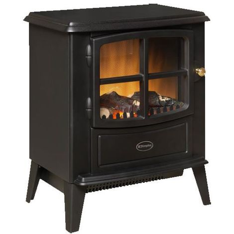 Dimplex Brayford 2 kw Optiflame Electric Stove Log Effect Black Livingroom Fire with Remote Control