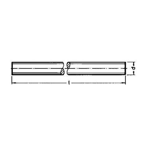 verzinkt gal Zn Inhalt Gewindestangen DIN 975 Stahl M 10 x 2000 galv 1 Stück