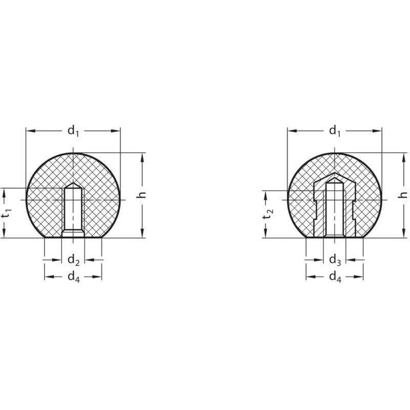 Image of DIN319-KT-20-M5-C Ball Knob; Polyamide- you get 25 - Ganter