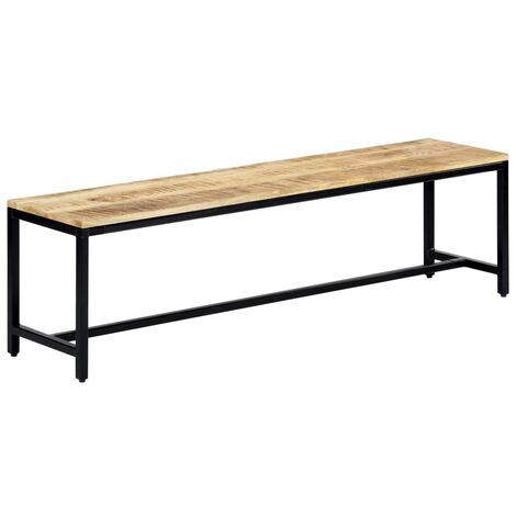 Dining Bench 160 cm Solid Rough Mango Wood