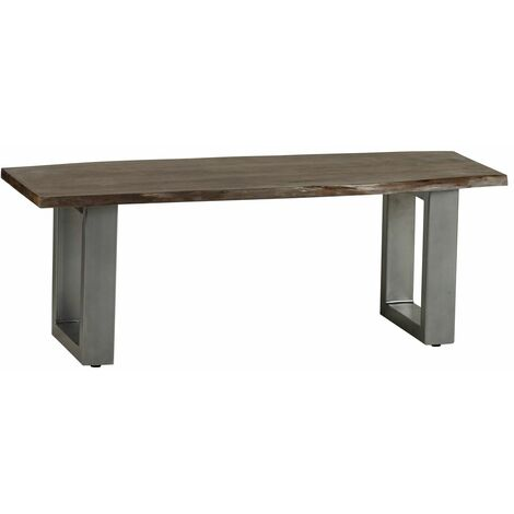 Dining Bench Grey Essential Live Edge - Light Wood