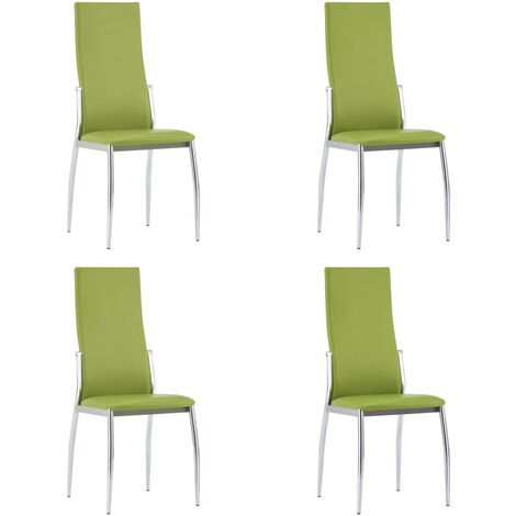 Dining Chairs 4 pcs Green Faux Leather