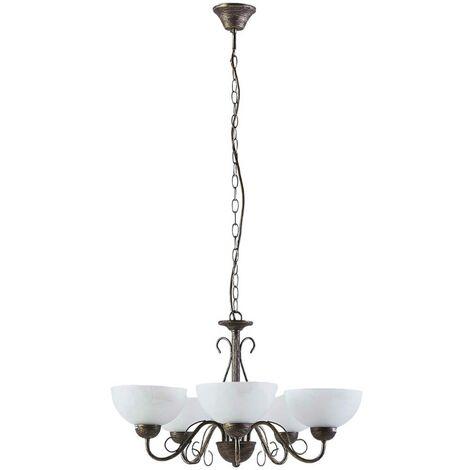 Dining room pendant lamp Mohija, 5 bulbs