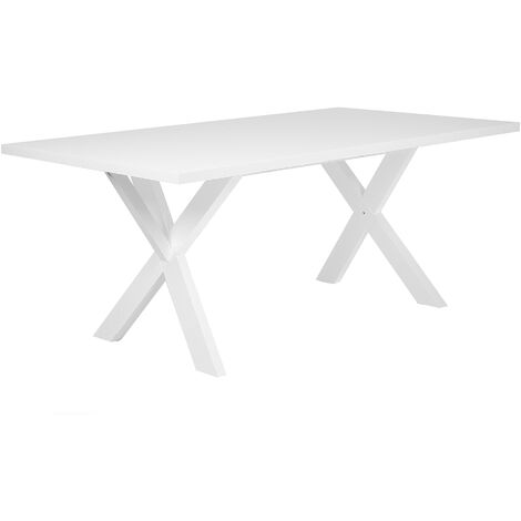 Dining Table 180 x 100 cm White LISALA