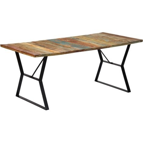Dining Table 180x90x76 cm Solid Reclaimed Wood