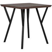 Dining Table 70 x 70 cm Dark Wood with Black BRAVO