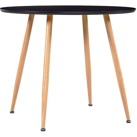 Dining Table Black and Oak 90x73.5 cm MDF