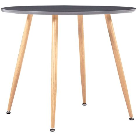 Dining Table Grey and Oak 90x73.5 cm MDF