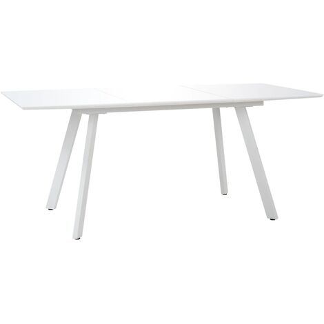 Dining Table High Gloss White 180x90x76 cm MDF