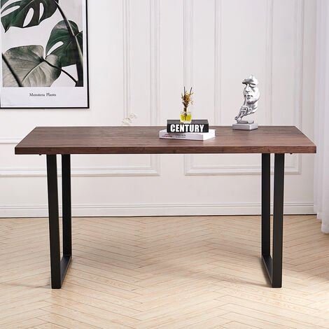 Dining Table MDF Brown150x90x76 cm