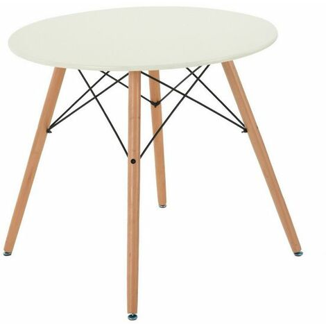 Dining Table Round Coffee Table Modern Leisure Wooden Tea Kitchen Table Dining-Room Table Bar Table White