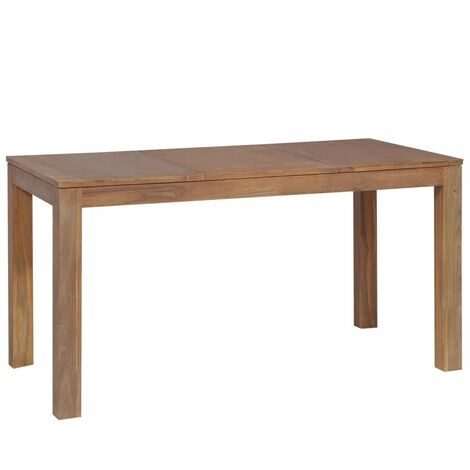 """main image of """"Dining Table Solid Teak Wood with Natural Finish 140x70x76 cm - Brown"""""""