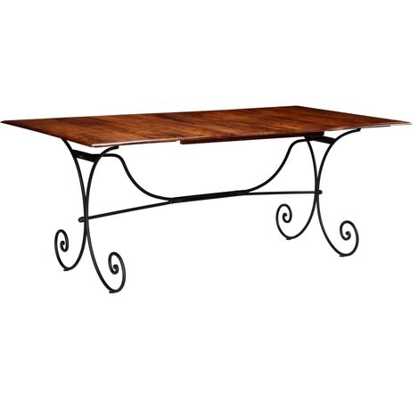 Dining Table Solid Wood with Sheesham Finish 200x100x76 cm