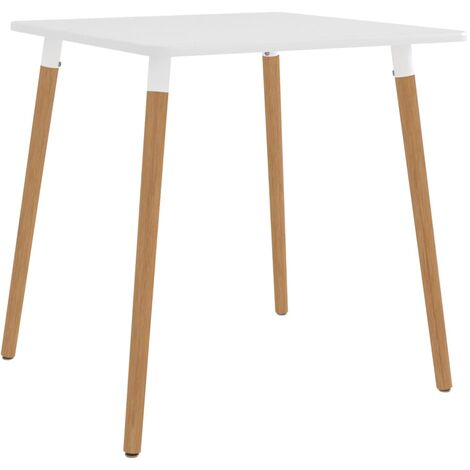 Dining Table White 80x80x75 cm Metal