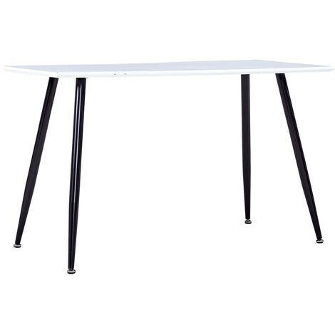 Dining Table White and Black 120x60x74 cm MDF
