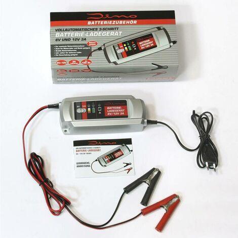 Dino Chargeur de batterie 6/12 Volt, 3 Ampères