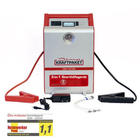 Dino KRAFTPAKET Starthilfegerät mit Powerbank 12V  600A Booster Ladestation