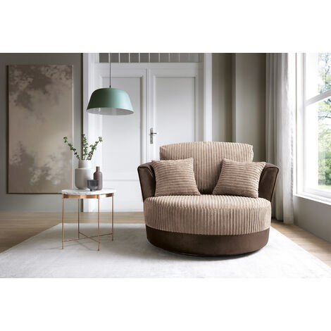 Dino Swivel Chair - Brown - color Brown