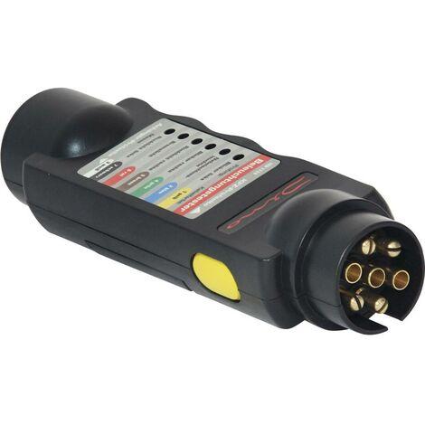 Testeur d'éclairage pour prise & connecteur de remorque 12 V DINO 130081