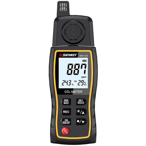 """main image of """"Dioxido de SNDWAY SW-723 portatil de carbono Concentracion de CO2 Detector de gas probador de alarma Calidad del aire Analizador 0-9999ppm rango de medicion"""""""