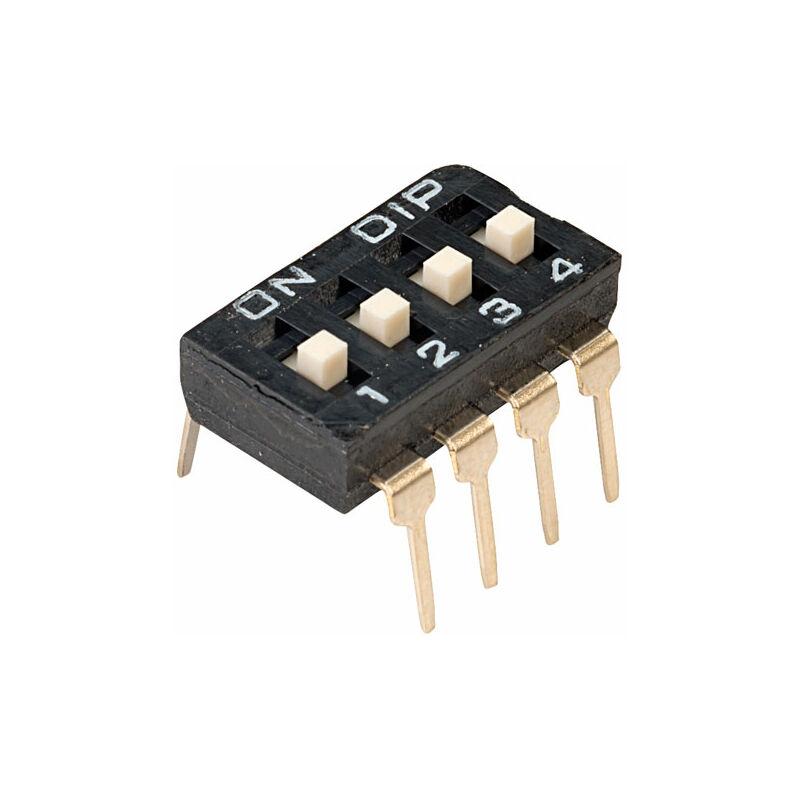 Image of DI-04S 4 Way 8 Pin Lp DIL Switch - Diptronics
