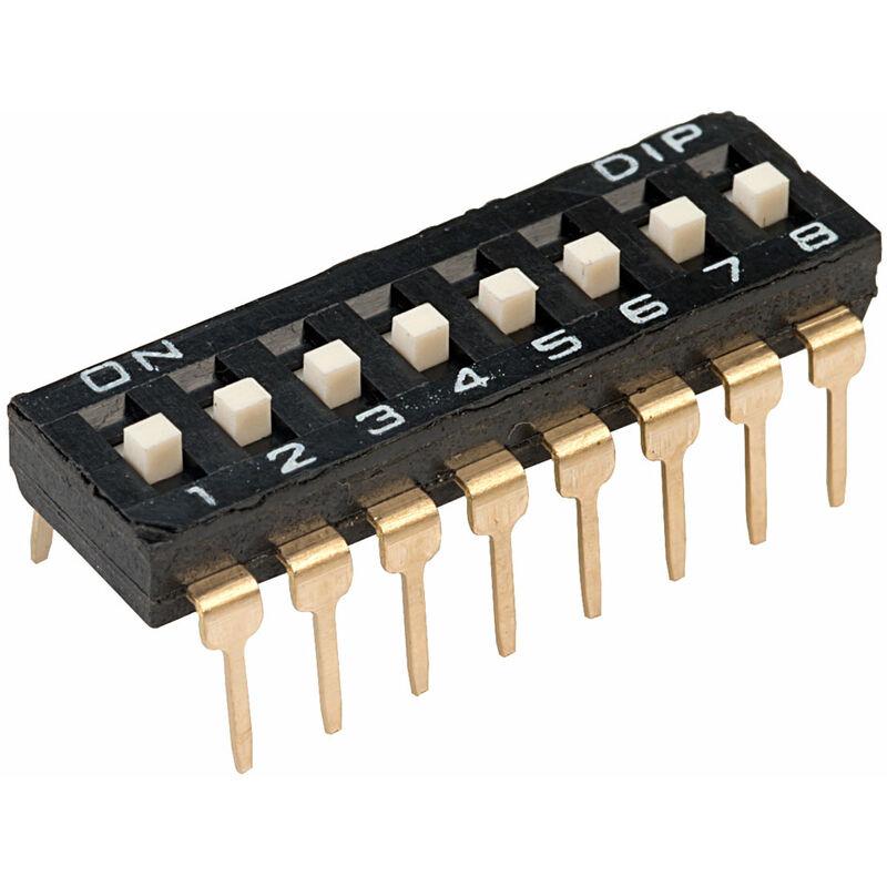 Image of DI-08S 8 Way 16 Pin Lp DIL Switch - Diptronics