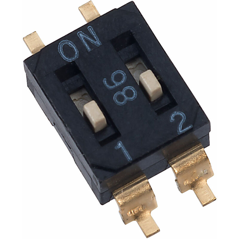 Image of EM-02 2 Pole 4 Pin SMD DIL Switch - Diptronics