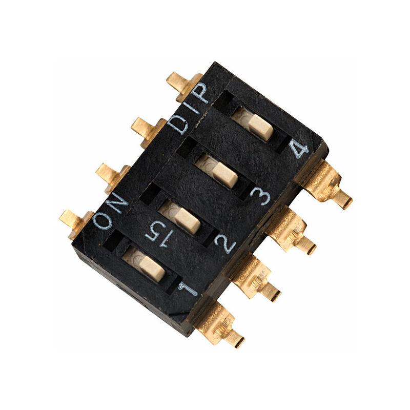 Image of EM-04 4 Pole 8 Pin SMD DIL Switch - Diptronics
