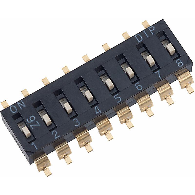 Image of EM-08 8 Pole 16 Pin SMD DIL Switch - Diptronics
