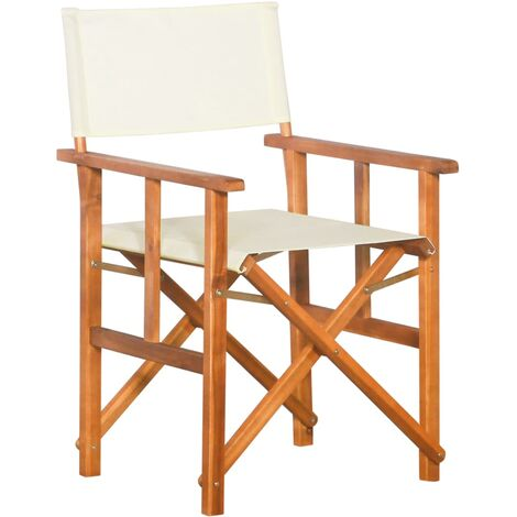 """main image of """"Director's Chair Solid Acacia Wood32269-Serial number"""""""