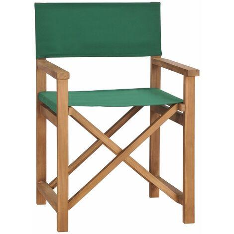Director\'s Chair Solid Teak Wood Green