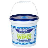 Dirteeze DZAB1000 Anti-Bacterial Wipes Bucket of 1000