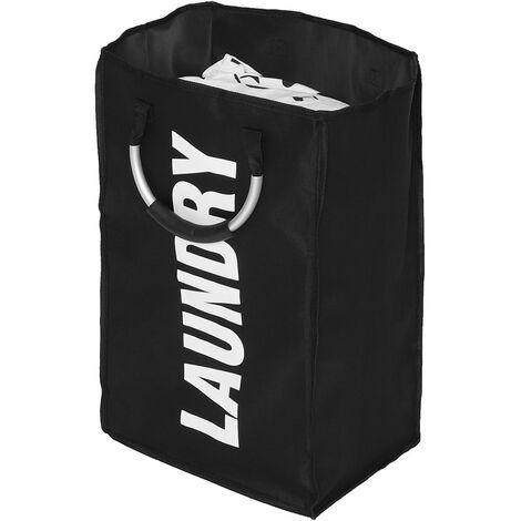 Dirty Laundry Basket Bathroom Organizer Home Storage Bag Laundry Basket (Black)