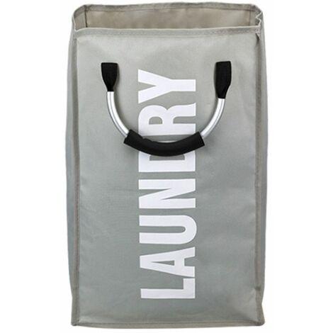 Dirty Laundry Basket Bathroom Organizer Home Storage Bag Laundry Basket (Gray)