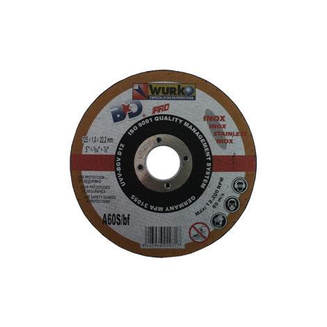 "main image of ""DISCO ABRASIVO 125X1X22 CORTE ACERO INOX"""