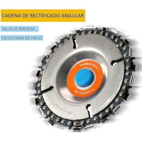 Disco amoladora de 4 pulgadas y cadena, 22 dientes, para amoladoras angulares 100/115
