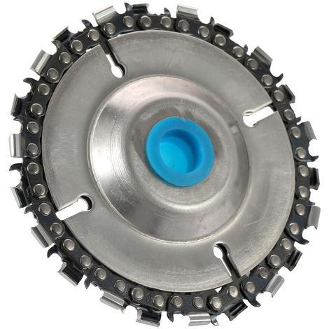"""Disco amoladora y disco de talla de madera para cadena, para amoladoras angulares de 4""""o 4-1/2"""""""