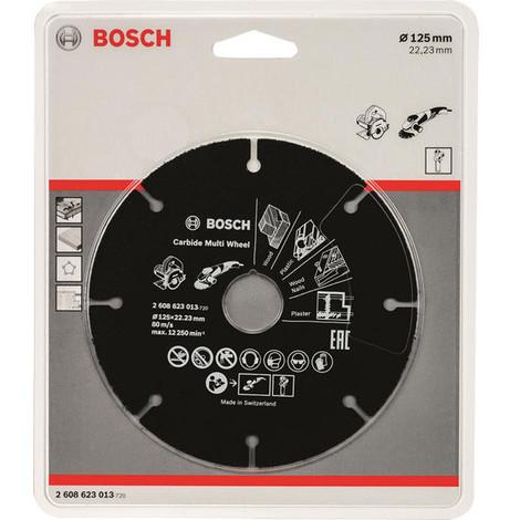 Disco C Multimaterial Carburo 125X22,23M - BOSCH - 2608619284