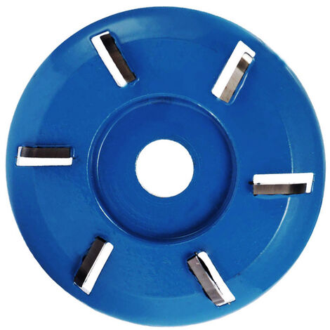 Disco cortador para tallar madera, placa para carpinteria, herramienta para esculpir, accesorio de fresado para amoladora angular de 16 mm, 6 dientes, azul, arco, tipo 4