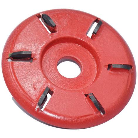 Disco cortador para tallar madera, placa para carpinteria, herramienta para esculpir, accesorio de fresado para amoladora angular de 16 mm, 6 dientes, rojo, arco, tipo 4